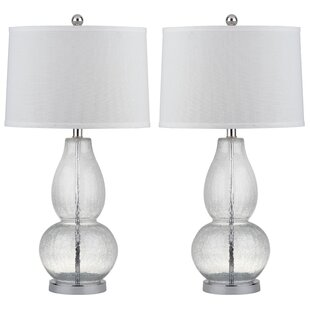 "Clear/White 29"" Table Lamp (Set of 2) (Set of 2)"