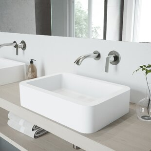 Petunia Stone Rectangular Vessel Bathroom Sink with Faucet VIGO