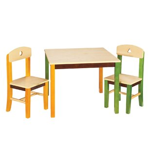 Savings See and Store Kids 3 Piece Writing Table and Chair Set By Guidecraft