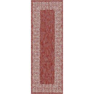 Dmitri Power Loom Polypropylene Rust Red Indoor/Outdoor Area Rug