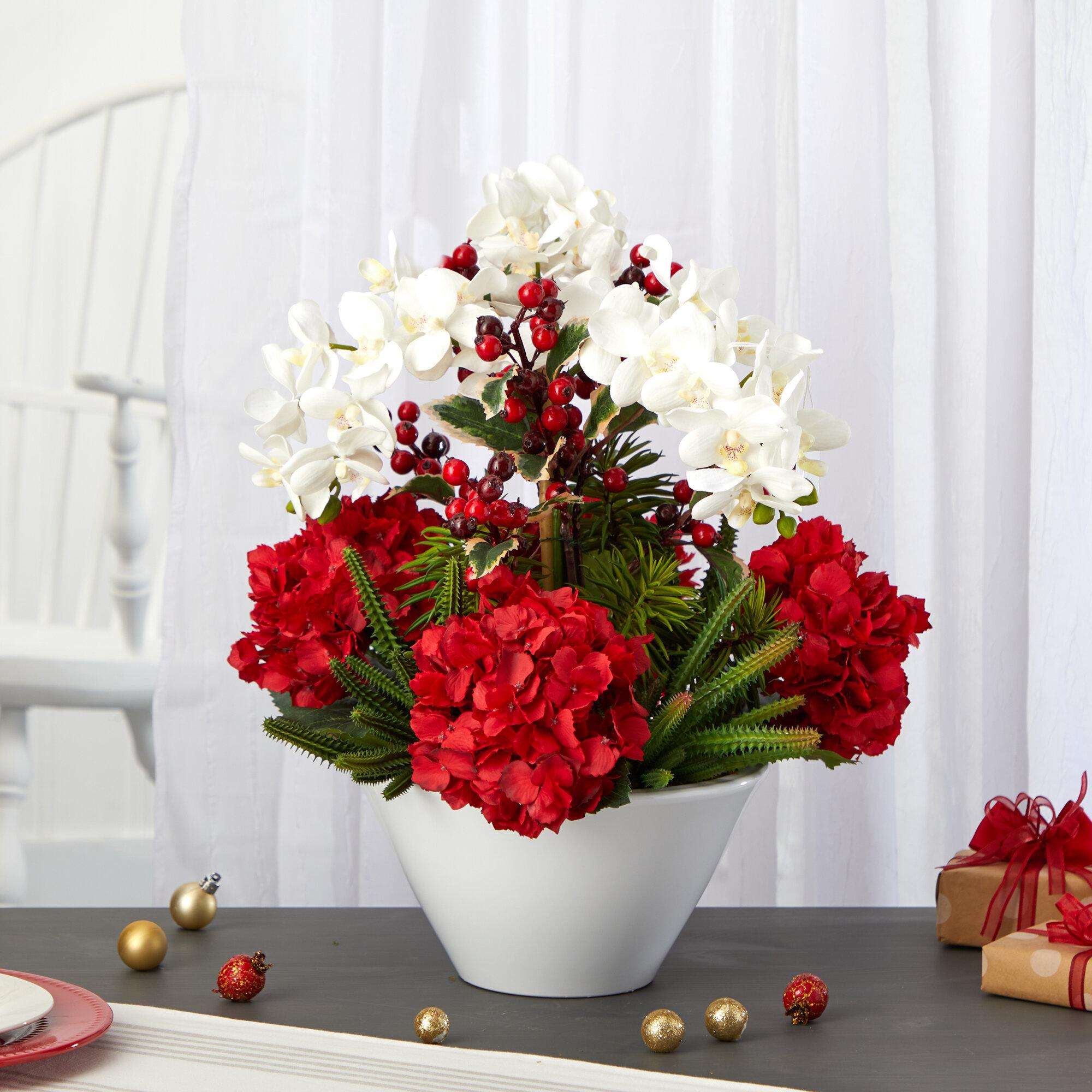 Primrue Mixed Floral Arrangements And Centerpieces In Vase Wayfair