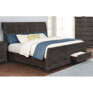 Partain Low Profile Storage Sleigh Bed