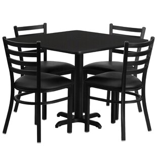Jannet 5 Piece Dining Set Red Barrel Studio