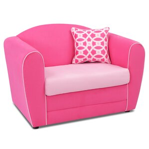 Tween Kids Loveseat with Accent Pillow by kangaroo trading company