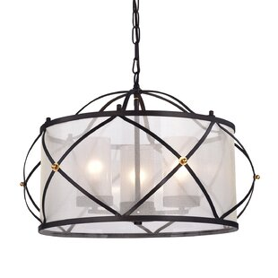 Franck Wrought Iron 3-Light Chandelier By Winston Porter Ceiling Lights
