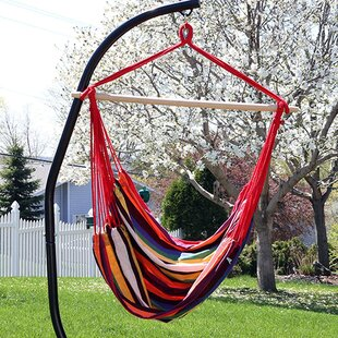 Bay Isle Home Sisk Jumbo Extra Large Chair Hammock with Stand