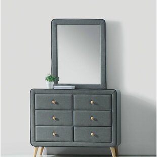 Lonan 6 Drawers Double Dresser with Mirror by Wrought Studio