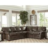 Susana Right Hand Facing Leather Sleeper Sectional by 17 Stories