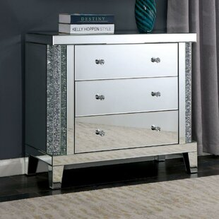 Rosdorf Park Moultrie 3 Drawer Acrylic End Table