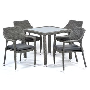 Monteiro 4 Seater Dining Set With Cushions (Set Of 4) By Sol 72 Outdoor