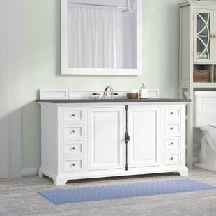 Ogallala 60 Single Rectangular Sink Cottage White Bathroom Vanity Set by Greyleigh