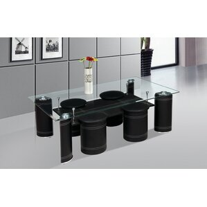 Coffee Table with Nested Stools by Bes..