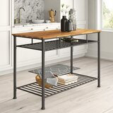 Tania Prep Table with Wood Top by Mercury Row