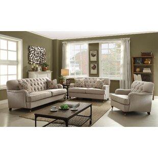 Diep 3 Piece Living Room Set