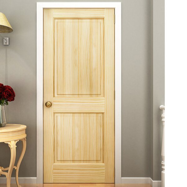 KIBY Colonial 2 Panel Solid Pine Slab Interior Door U0026 Reviews | Wayfair