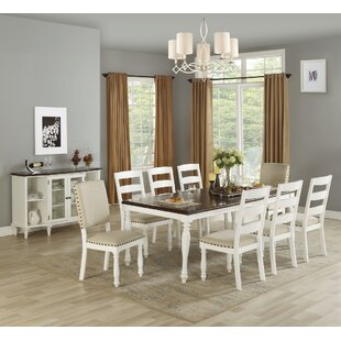 Lawerence 9 Piece Drop Leaf Dining Set Highland Dunes