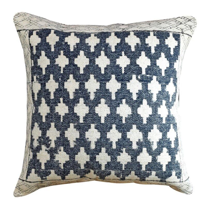 Yotreasure Cotton Feather Geometric Throw Pillow Wayfair