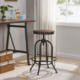 Leyt Swivel Adjustable Height Bar Stool (Set of 2) by Williston Forge