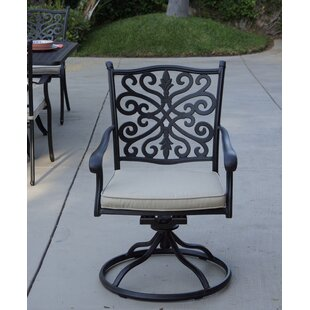 Bumgardner Rocker Swivel Patio Chair with Cushion (Set of 4)