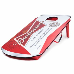 1.58' x 3.08' Budweiser Manufactured Wood Cornhole Board by Trademark Games