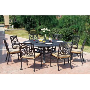Astoria Grand Palazzo Sasso 10 Piece Dining Set With Cushions