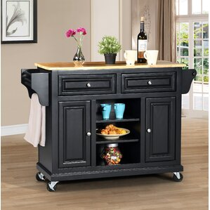 Kitchen Island with Solid Wood Top by Wildon Home ®