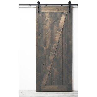 Traditional Z Solid Wood Room Dividers Knotty Alder Slab Interior Barn Door by Dogberry Collections