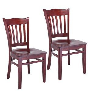 Darlington Slat Back Solid Wood Dining Chair (Set of 2) by Darby Home Co