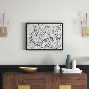 Genial 14: Gray » Par Jackson Pollock, Reproduction Du0027art Encadrée