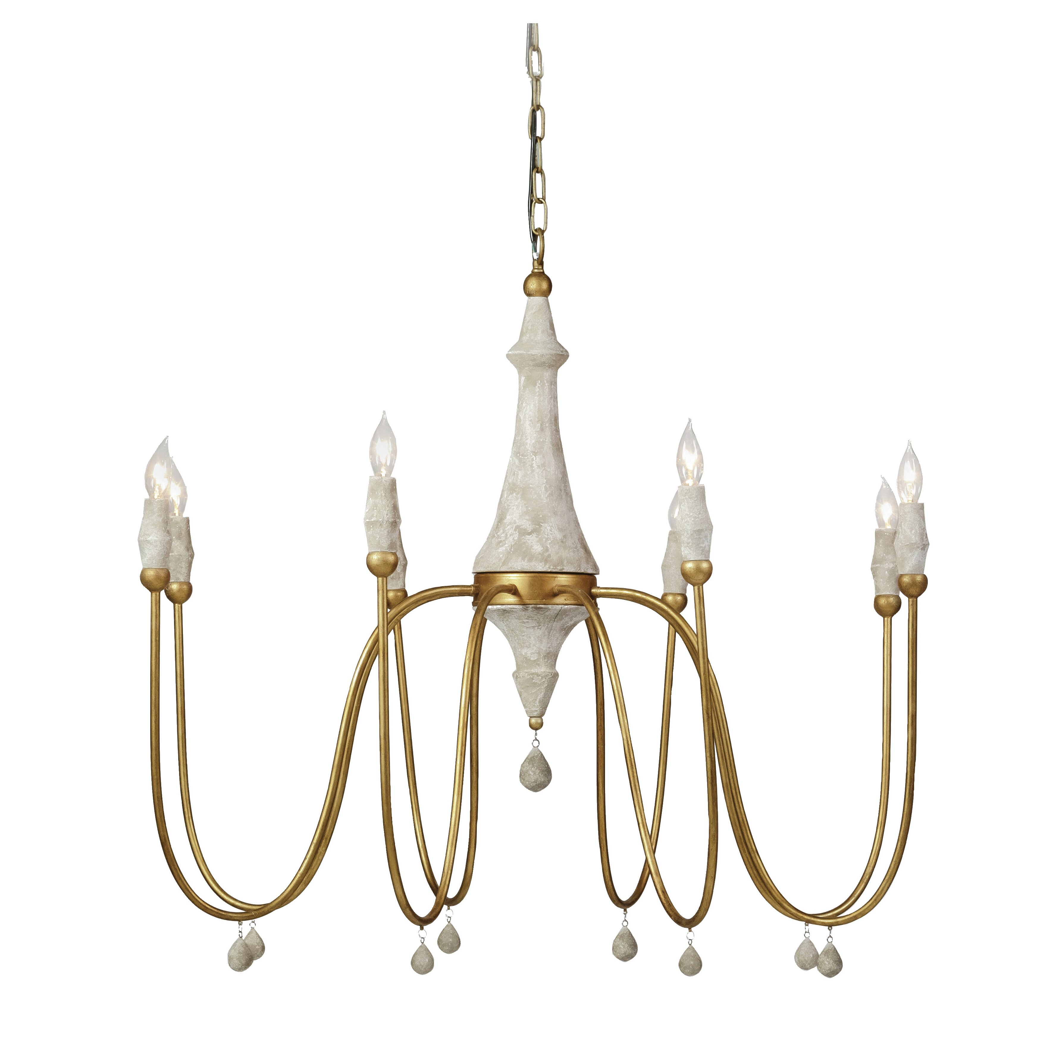 Gabby 8 Light Candle Style Classic Traditional Chandelier With Beaded Accents Reviews Wayfair