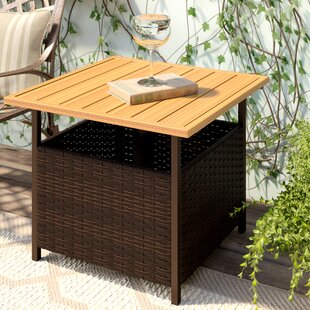 Flatiron Wicker Side Table