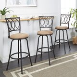 Atoka Adjustable Height Swivel Bar Stool (Set of 3) by Fleur De Lis Living