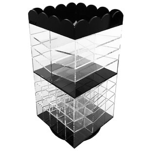 Rotating Palette Storage Lipstick Makeup Cosmetic Organizer by Rebrilliant
