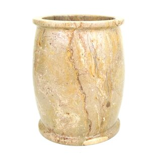 Nature Home Decor Sahara Beige Marble 4 Gallon Waste Basket