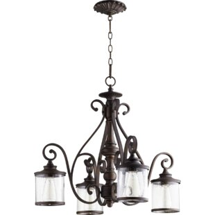 Ophelia & Co. Miley 4-Light Shaded Chandelier