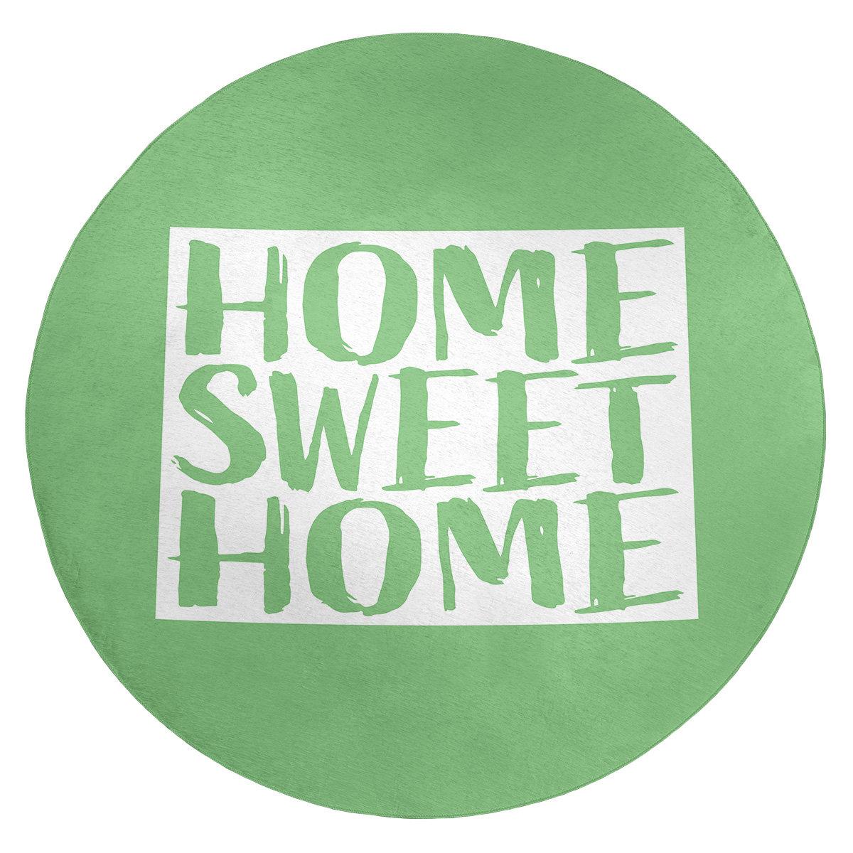 East Urban Home Home Sweet Colorado Poly Chenille Rug Wayfair