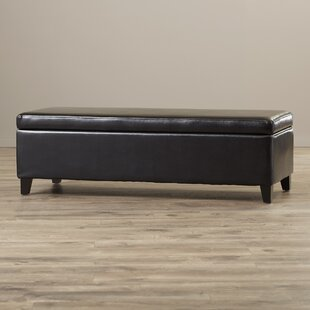 Ridgeley Bailey Bonded Leather Storage Ottoman Bench by Wade Logan