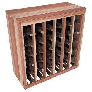 Red Barrel Studio Karnes Redwood Deluxe 36 Bottle Floor Wine Rack