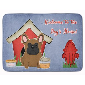 Dog House French Bulldog Memory Foam Bath Rug