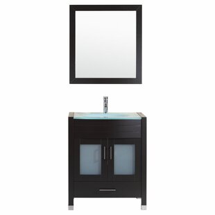Peterman Modern 30 Single Bathroom Vanity Set with Mirror by Orren Ellis