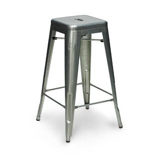 Crose 30 Metal-Galvanized Bar Stool Williston Forge