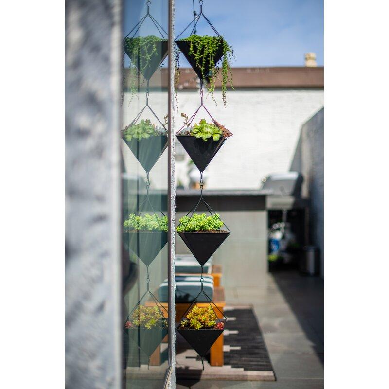 Wrought Studio Ravinder 2 Piece Hanging Planter Set Wayfair