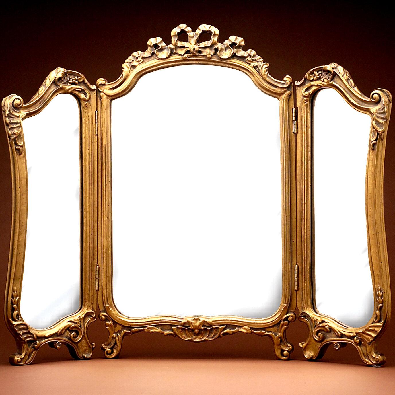 Astoria Grand Hahne Tri Fold Bathroom Vanity Mirror Reviews Wayfair