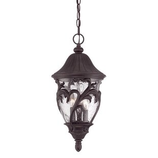 Compare prices Berumen 3-Lights Outdoor Pendant By Fleur De Lis Living