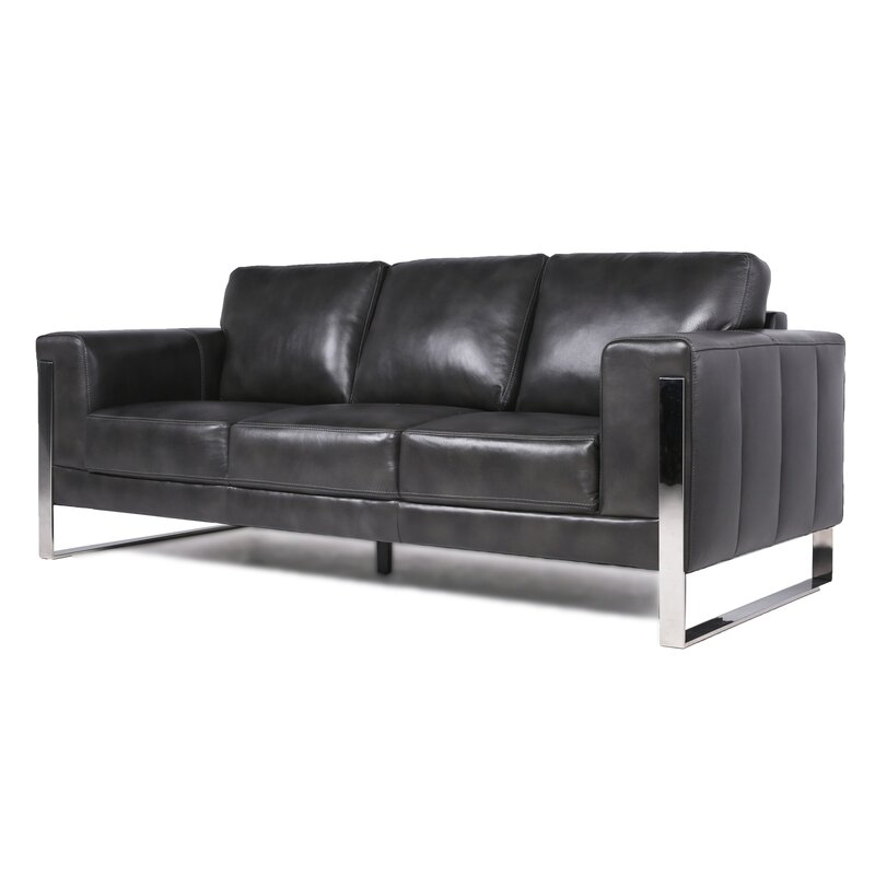 Olivarez Top Grain Leather Configurable Living Room Set