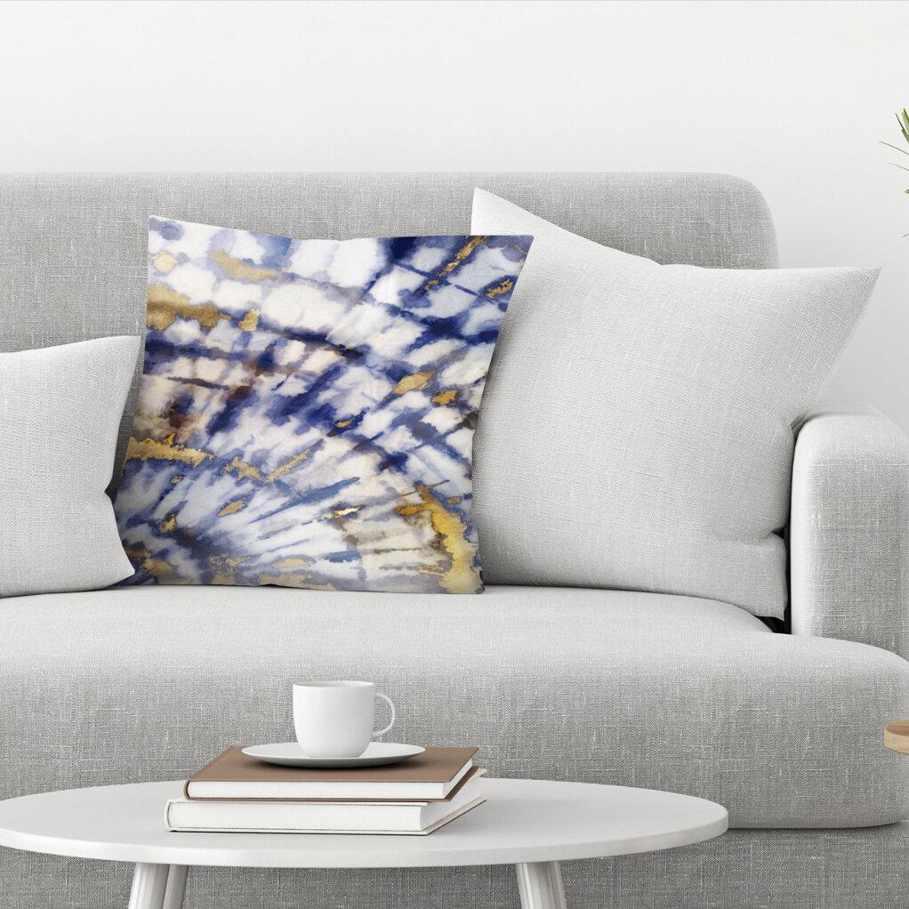 East Urban Home Tie Dye Ii Throw Pillow Wayfair