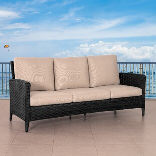 Jerlene Wide Patio Sofa with Cushions