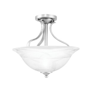Corwin 2-Light Semi Flush Mount by Andover Mills