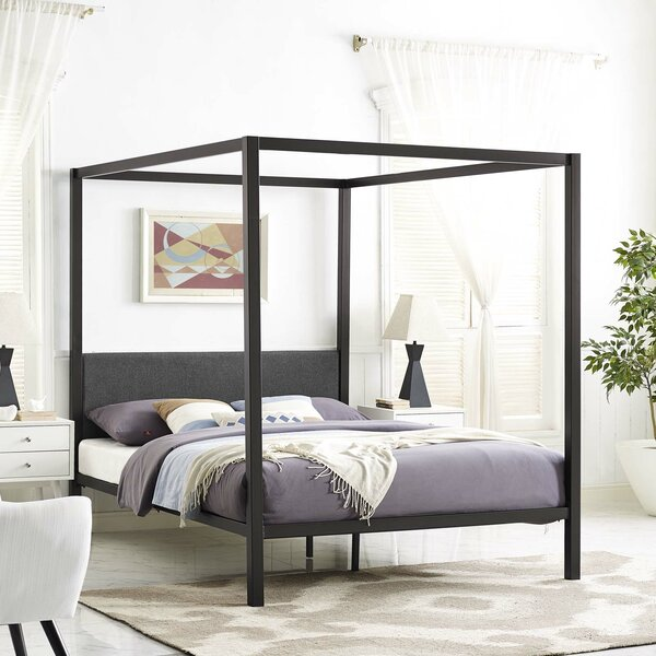 Wood Canopy Bed Frame Wayfair