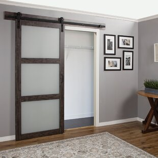 Continental Frosted Glass 1 Panel Ironage Laminate Interior Barn Door. By  Erias Home Designs